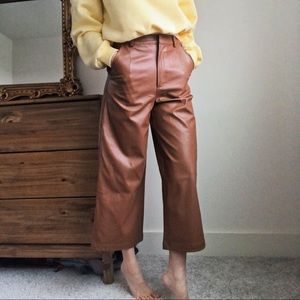 Faux Leather Culotte Trousers